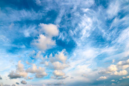 summer sky with clouds Imagens