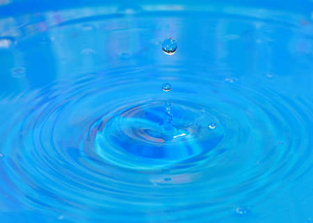 a drop of pure water falls