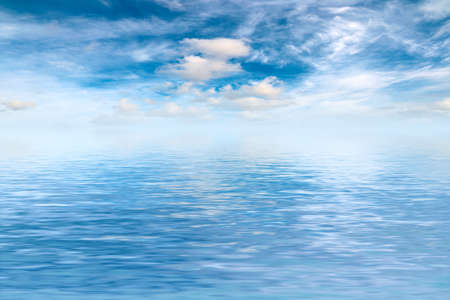 sunny sky in the sea surface Imagens