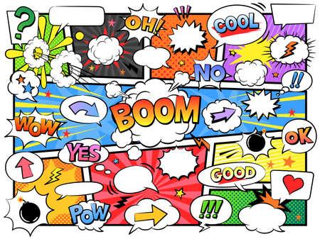 Comic Speech Bubbles & Design Elements
