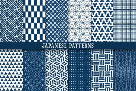 seamless japanese traditional pattern Vettoriali