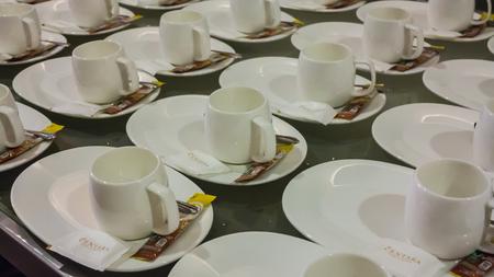 take a break: Many rows of coffee for take a break.
