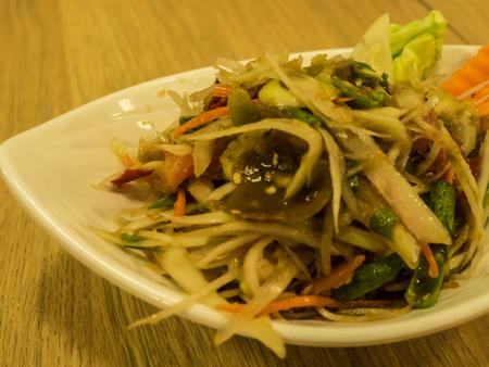 Thai Somtum or papaya salad.