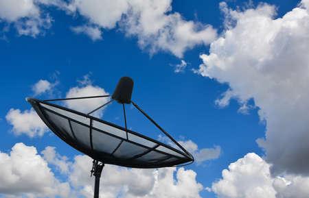 airwaves: Satellite in the Sky Stock Photo