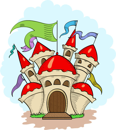 Fairy castle from dreams Stock Vector - 8908843
