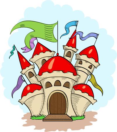popular tale: Fairy castle from dreams
