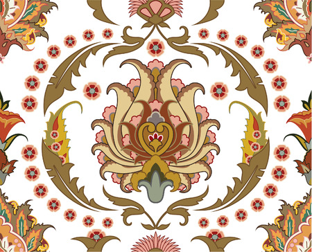 seamless ornament with east design Vector