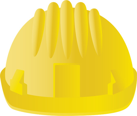 workwear: hard hat isolated on white Illustration