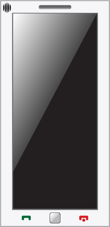 gprs: mobile phone isolalted on white. Own design