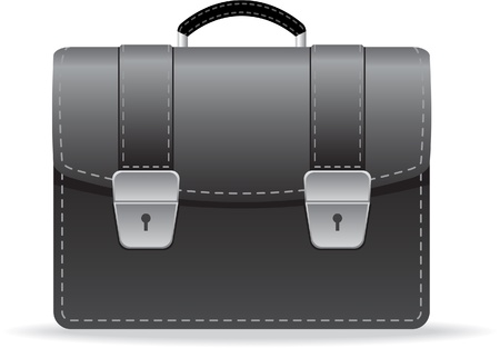 leather briefcase isolated on white Illustration