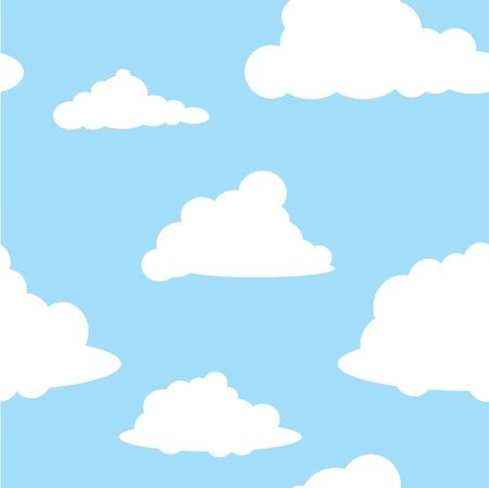 Seamless vector sky and clouds wallpaper Vector
