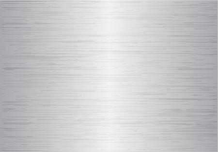 on metal: Cepillado fondo abstracto de textura metal Vectores