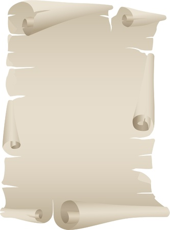 scroll of old paper Vector