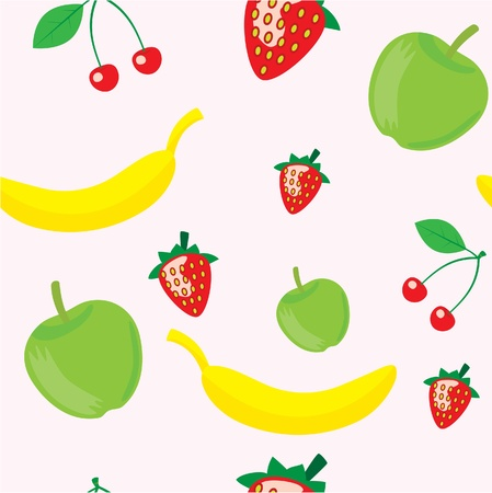 seamless pattern of tasty fruits  Vector