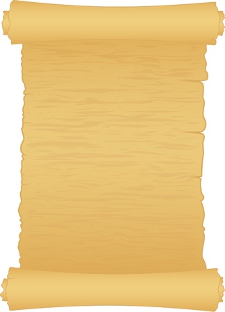 old scroll of papper isolated on white