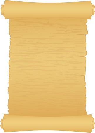 papiro: scorrere storico di papper isolato su bianco Vettoriali