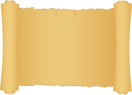 old scroll of papper isolated on white Stock Vector - 10271420