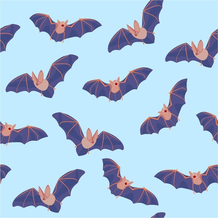 seamless pattern of flying bats