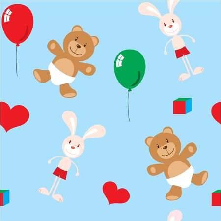 seamless pattern of children toys Illustration