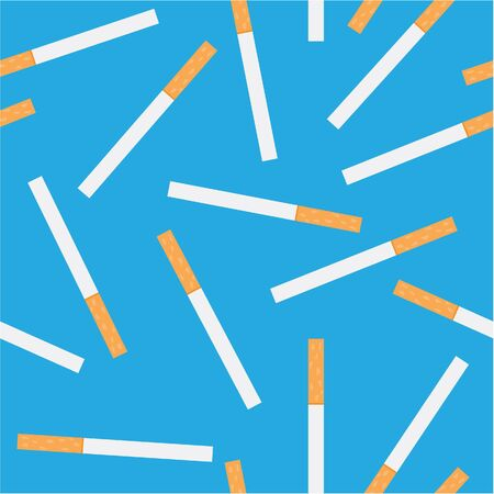 seamless pattern of cigarettes Vector