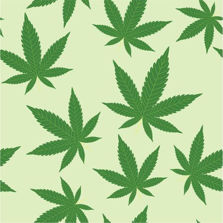 thc: seamless pattern of leaves