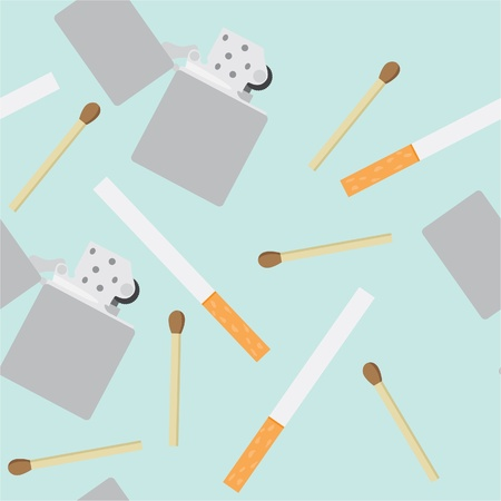 seamless pattern of smoking equipment Vector