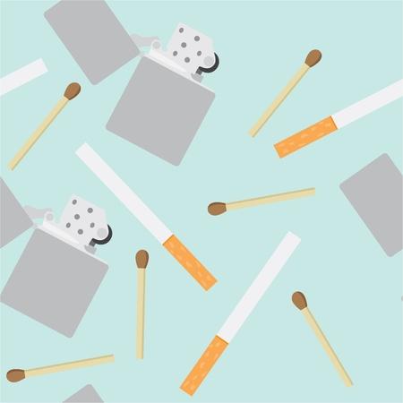 seamless pattern of smoking equipment