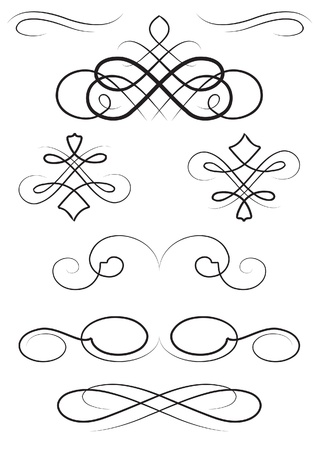 set of the nice ornaments elements