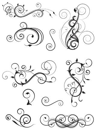The set of design elements Illustration