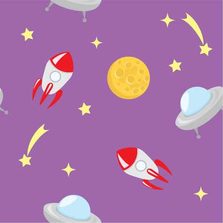 seamless pattern of outer space Stock Vector - 11998199