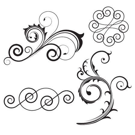 set of swirl elements Vector