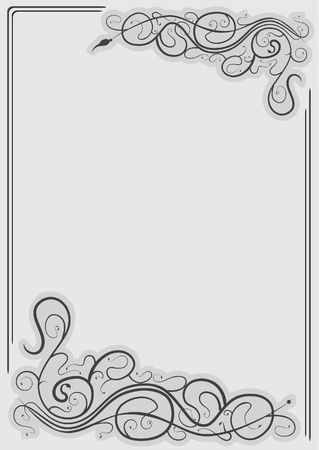 frame with swirl elements Vector