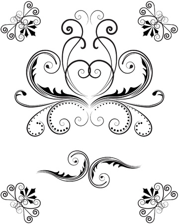 set of swirl elements Stock Vector - 11998175