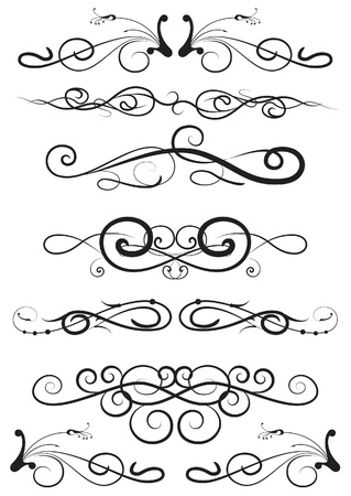 flourishes: set of the design elements