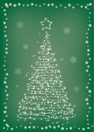 evergreen tree: the postcard with fir tree
