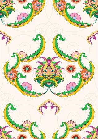 seamless paterrn of ornate flower Illustration