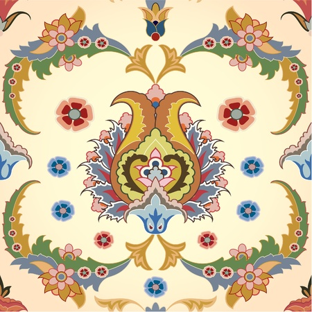 arabesque: sfondo trasparente con fiori persiani