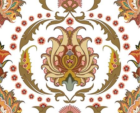 ペルシア: 東デザインでシームレスな飾り  イラスト・ベクター素材