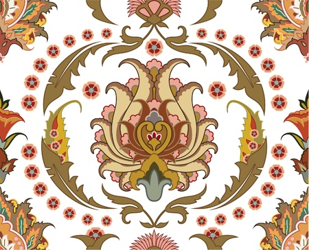 baroque background: seamless ornament with east design