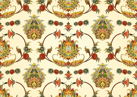 seamless pattern with east flowers