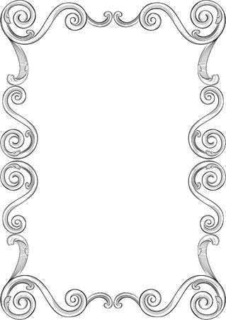 Engraving pattern of nice frame Stock Vector - 11998256