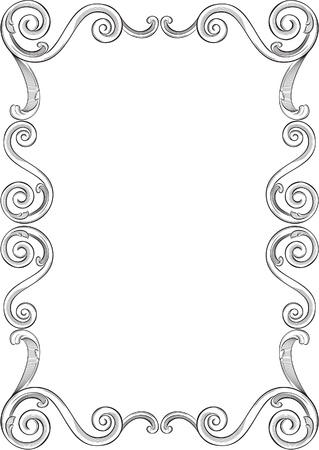 engraved image: Engraving pattern of nice frame