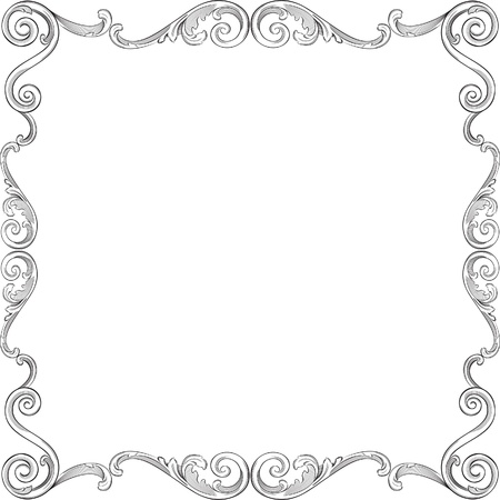 Engraving pattern of nice frame Stock Vector - 11998290