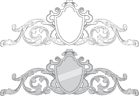 Baroque coat of arms Vector