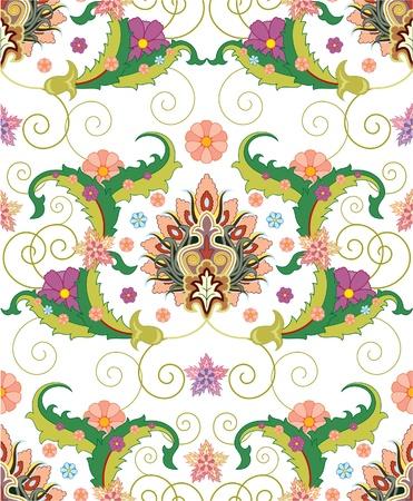 seamless pattern ofPersian ornament Vector