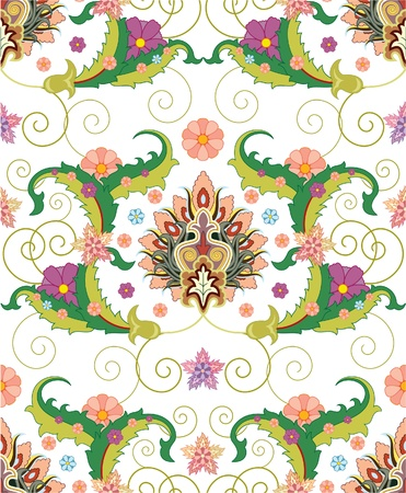 seamless pattern ofPersian ornament Illustration