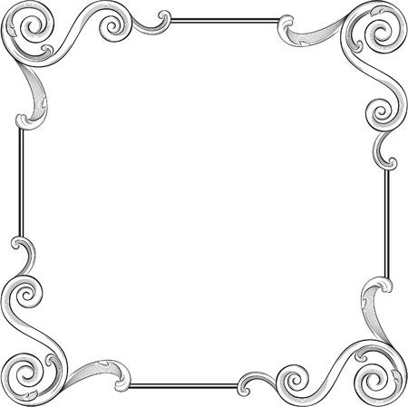 acanto: Grabado patr�n de marco agradable