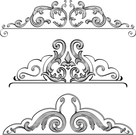 acanto: elementos de dise�o de los marcos de buenas Vectores