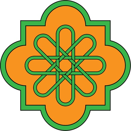 celtic culture: Nice emblem witn Irish cross Illustration
