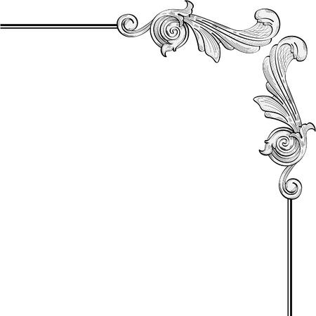 Kunstvolle Blätter für Barock-Rahmen Standard-Bild - 11998215